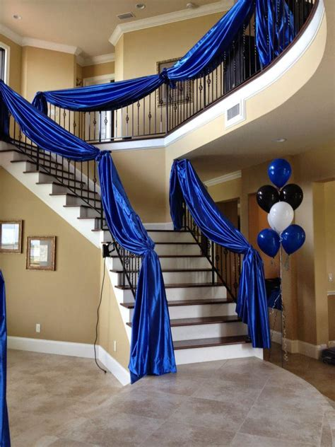 diy Wedding Crafts: Fabric Draped Staircase Banister Idea