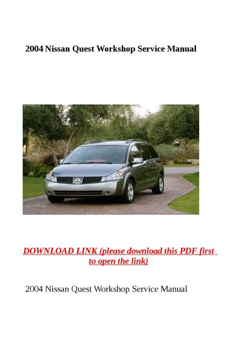 how to download repair manuals 2004 nissan quest electronic toll collection 2004 nissan quest workshop service manual by sally mool issuu