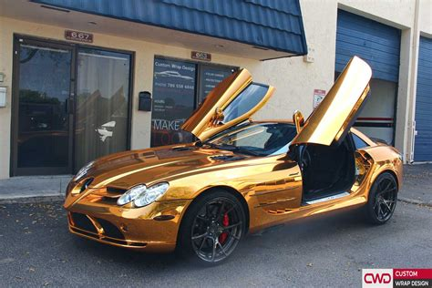 gold color cars miami car wrap portfolio