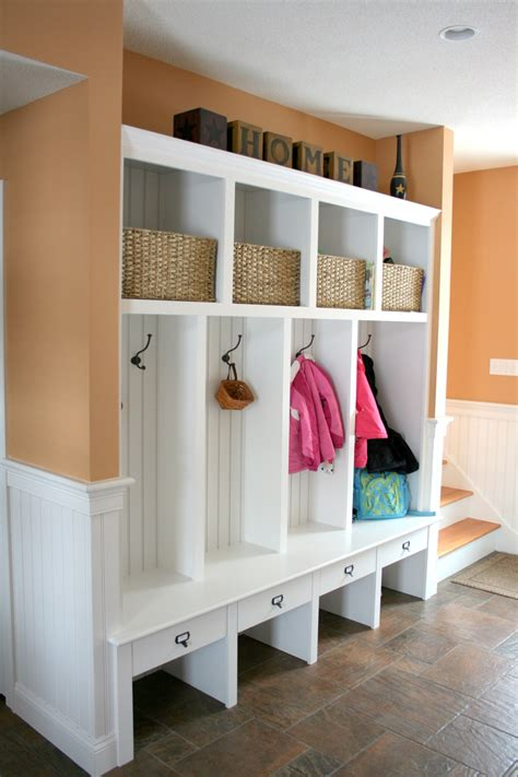 mudroom furniture ideas modern white mudroom furniture in orange interior design