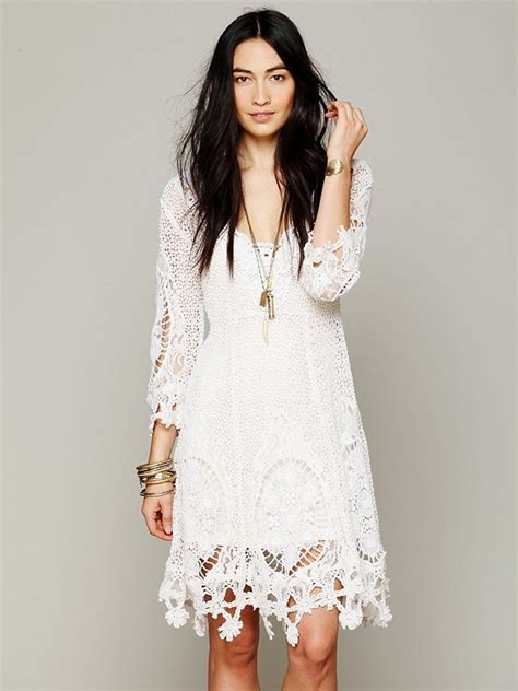 white boho dress 03 trendy boho vintage bohemian clothing
