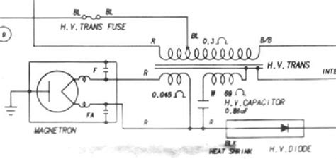 magnetron circuit diagram magnetron schematic transformer what are the bare