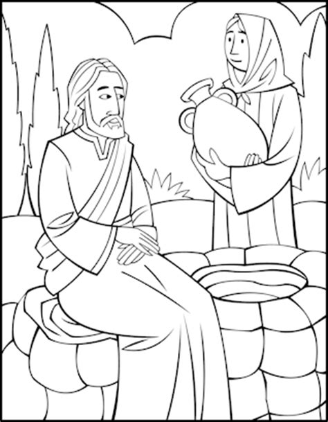 jesus and the samaritan at the well coloring pages p 225 para colorear mujer en el pozo