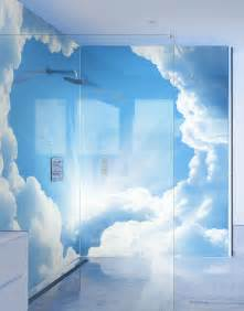 celestial clouds printed shower panels splash acrylic