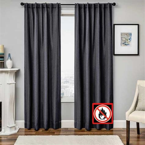flame retardant drapes euro linen flame retardant back tab panel softline home