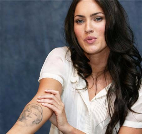 megan fox marilyn tattoo megan fox s 9 tattoos their meanings guru