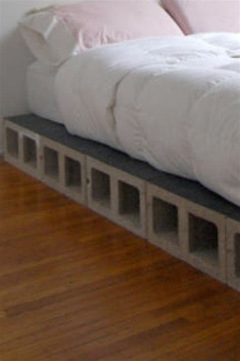 bed blocks cinder block bed decorating fun pinterest