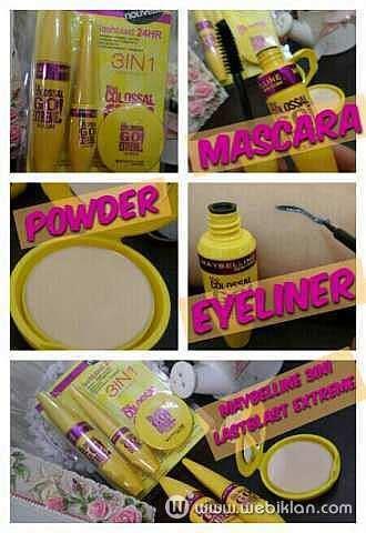 Harga Bedak Chanel Di Jakarta paketan mascara eyeliner bedak maybelline 3in1 web iklan