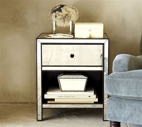 Pottery Barn Mirrored Nightstand by Marnie Mirrored Nightstand Pottery Barn