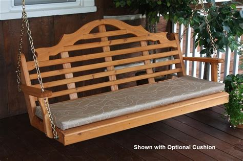 porch swing chain cedar marlboro porch swing with chains the rocking chair