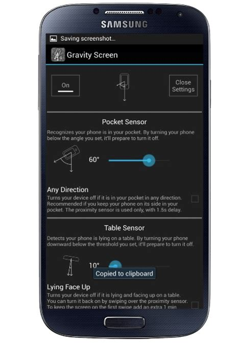 android gravity automatically turn on your android screen with gravity screen on app
