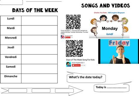 days of the week calendar www imgkid the image kid