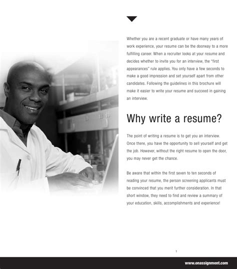 Resume Assignment by Resume Assignment