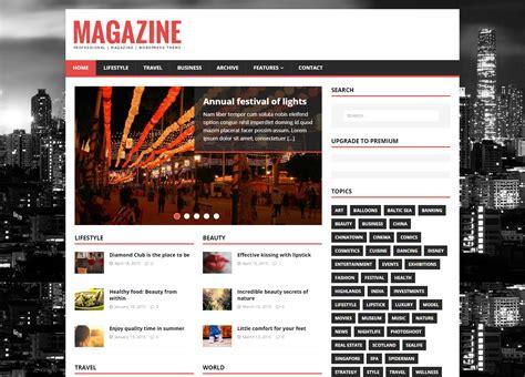 20 free magazine themes for wordpress top 20 blog and magazine wordpress themes for august 2016