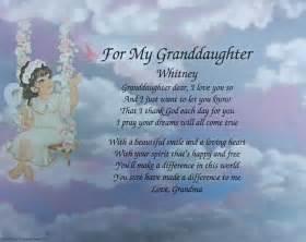 Poem For Granddaughter  Ee  Birthday Ee   Or Christmas