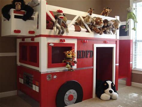 fire truck loft bed how to build a fire truck bunk bed home design garden