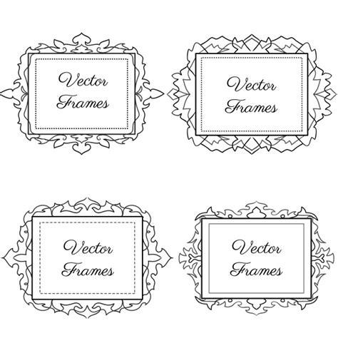 cornici bianco e nero cornici ornamentali in bianco e nero scaricare vettori