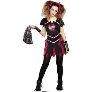 Zombie Cheerleader Costume Zombie Cheerleader Teen Halloween Costume Walmart Com