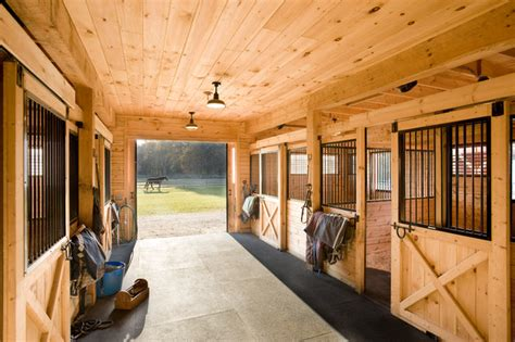 Stable Design Ideas by Equestrian Estate Farmhouse Shed Boston By Windover Construction
