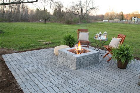 Build A Patio With Pavers How To Build A Paver Patio With A Built In Pit
