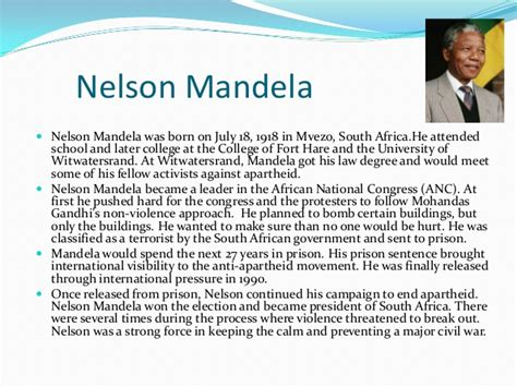 nelson mandela esl biography biography of final