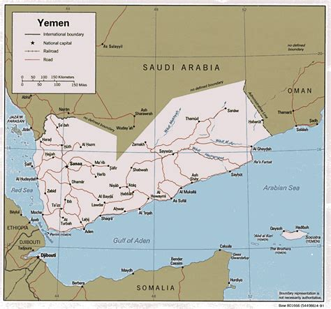 yemen map detailed road and political map of yemen yemen detailed