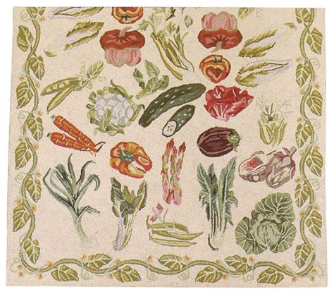Vegetable Kitchen Rugs Kitchen Mats Wool Kitchen Mat Vegetable 99 Quot L X 39 Quot W Traditional Rugs