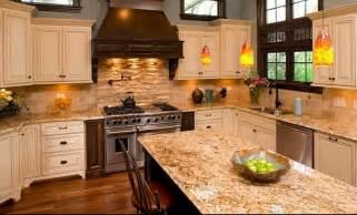 backsplash cream kitchen cabinets shaker