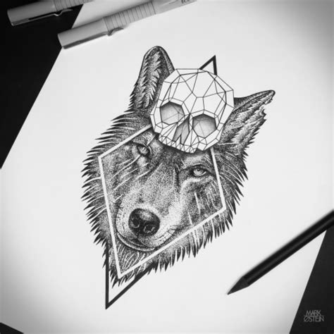 wolf tattoos tumblr geometric wolf with regard to wolf