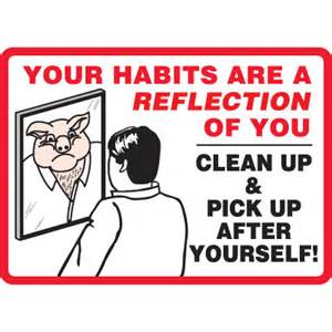Bathroom Signs To Clean Up After Yourself Clean Up After Yourself Sign Emedco