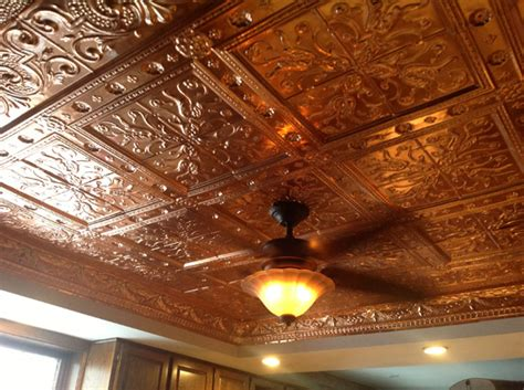 copper ceiling installation w f norman corp