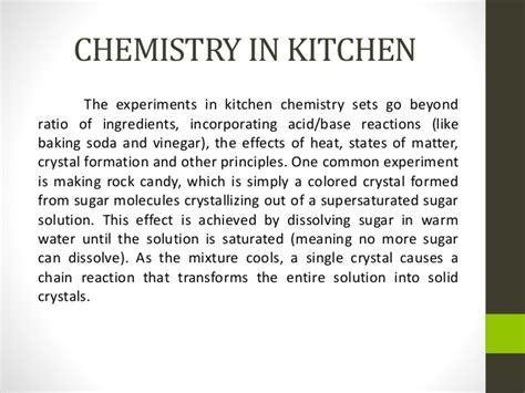 Kitchen Chemistry by Chemistry In The Kitchen