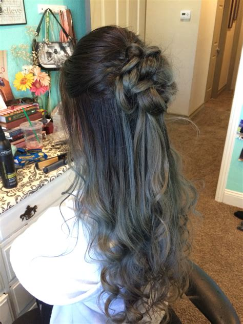 occasion hairstyles down prom hair half up half down hair pinterest prom
