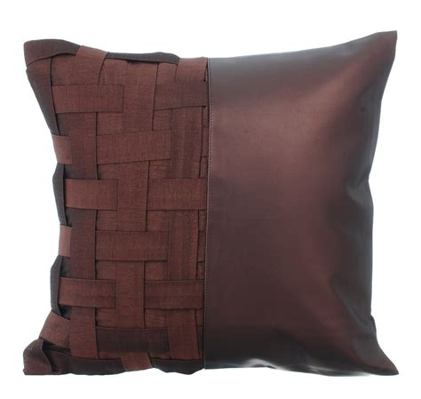 Decorative Throw Pillow Cover Accent Pillow Couch Sofa Leather Throw Pillows On Leather Sofa