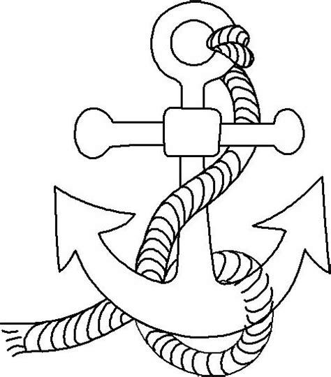 anclas de barcos para colorear dibujos de anclas de barcos imagui