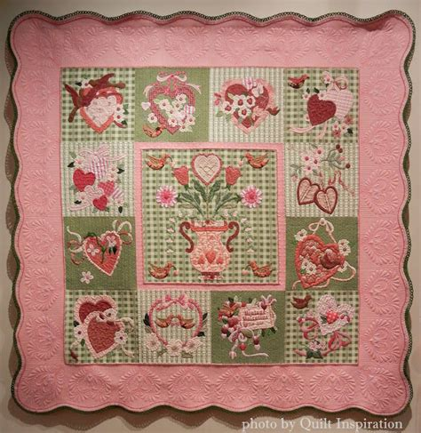 vintage valentine pattern quilt inspiration happy valentine s day