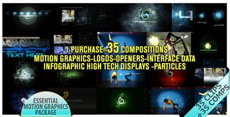 Videohive After Effects Project Footage Mega Bundle videohive motion graphics displays and particles bundle pack free after effects template