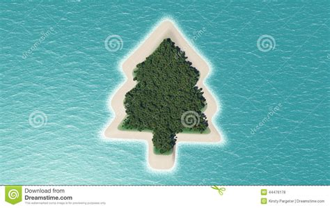 christmas tree island stock illustration image 44476178