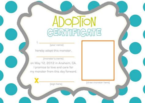 stuffed animal name card template 14 best images about certificate on tatty