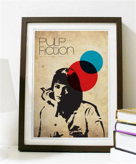 Poster Pulp Fiction Ukuran A3 pulp fiction a3 poster from posterinspired on etsy