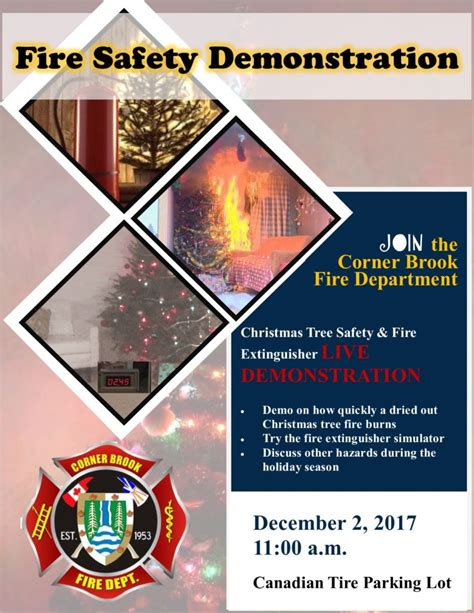 christmas tree fire extinguisher tree safety extinguisher live demonstration december 2 2017 city of corner brook