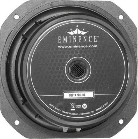 Speaker Eminence speaker eminence 174 pro 8 quot delta pro 8a 225 watts antique electronic supply