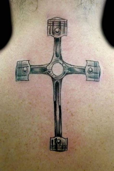 crossed piston tattoo rod car and truck 52 automotive tattoos