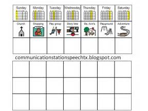 visual schedule template communication station speech therapy pllc visual