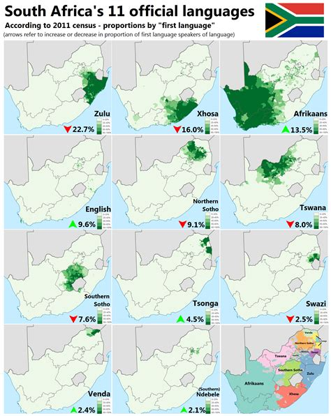 africa map by language south africa s 11 official languages maps of africa