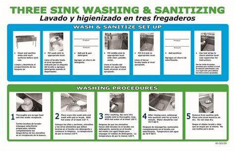 three compartment procedures 2 compartment dishwashing procedure sinks ideas