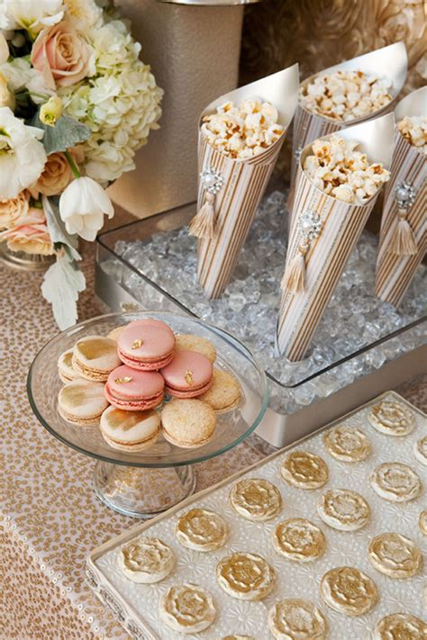 How To Make Popcorn Out Of Paper - make paper cones out of gold and blush paper and add silk