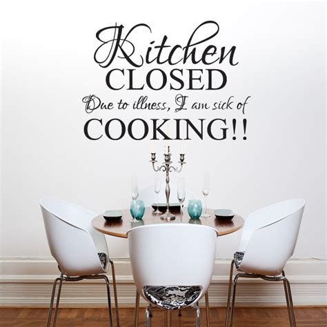 kitchen closed wall quote sticker kitchen dining