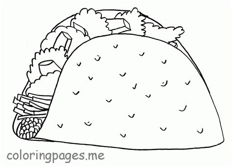 coloring pages mexican food mexican food coloring page az coloring pages
