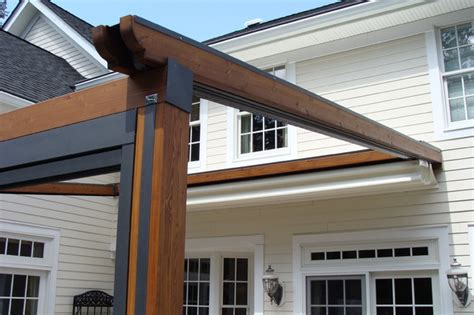 how to make a retractable awning private residence northern nj retractable pergola